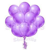 Облако фиолетовых шаров