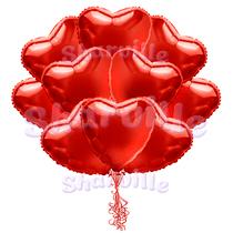 Облако сердца из фольги