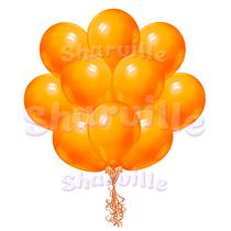Облако оранжевых шаров