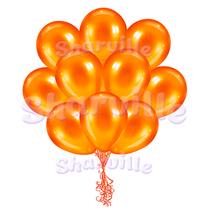 Облако оранжевых шаров металлик