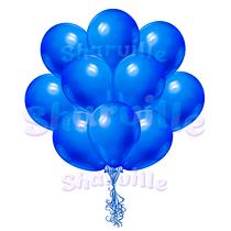 Облако синих шаров