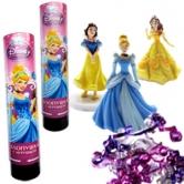 Хлопушка пружинная Принцессы с игрушкой (21см)