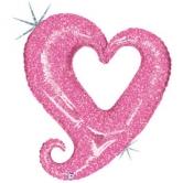"""Шар """"Розовое сердце"""" 94см"""