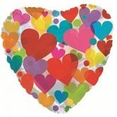 """Шар """"Цветные сердечки"""""""