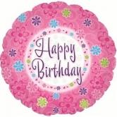 """Шар """"Happy Birthday розовый"""""""