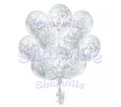 Облако шаров Свадебные лебеди