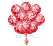 Облако шаров для влюбленных