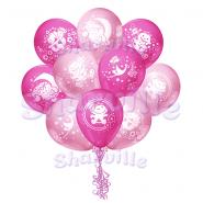 Облако шаров на рождение девочки