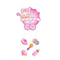 """Подвеска """"Малышка с игрушками"""" 41х90 см"""