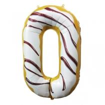 """Шар Цифра пончики """"0"""" 102 см"""