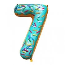 """Шар Цифра пончики """"7"""" 102 см"""