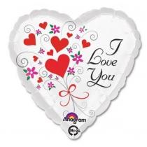 "Шар ""Сердце I LOVE YOU нежный """