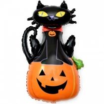 """Шар """"Черный кот на тыкве"""""""