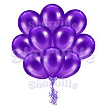 Фиолетовые шары металлик