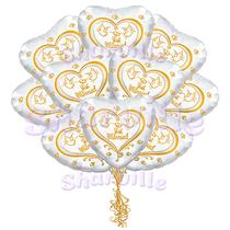 Облако фольгированных шаров Свадьба