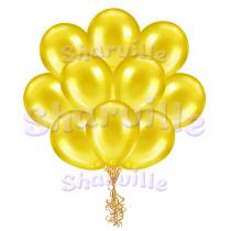 Жёлтые шары металлик