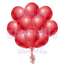 Красные шары пастель