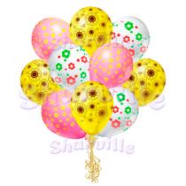 Шары с рисунком Полевые цветы