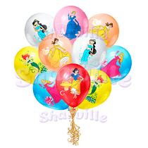 Шары с рисунком Принцессы Disney