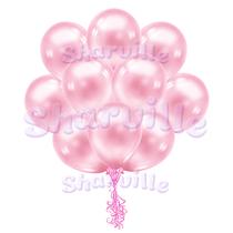 Облако розовых перламутровых шаров