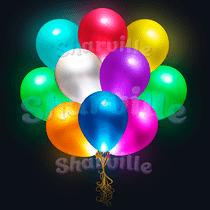 Светящиеся шары разноцветные