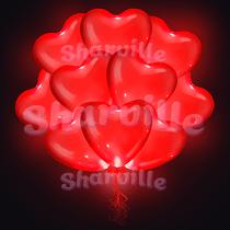 Светящиеся красные сердца (40 см)
