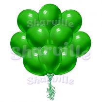 Облако зеленых шаров