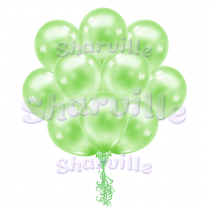 Облако зеленых перламутровых шаров
