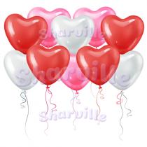 Большие шарики Сердечки (40 см)