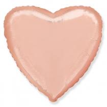 """Шар """"Сердце"""" розовое золото"""