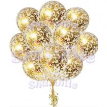 Шары с золотым конфетти
