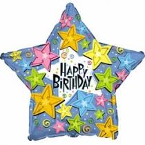 """Шар """"Happy Birthday звезда"""""""
