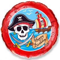 "Шар ""Happy Birthday пират"""