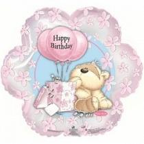 """Шар """"Happy Birthday мишка"""""""