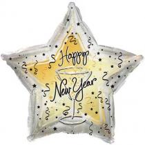 """Шар """"Happy New Year"""" 46см"""