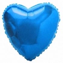 """Шар """"Синее сердце"""" 81 см"""