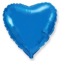 """Шар """"Сердце"""" синий"""