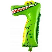 """Шар Крокодильчик """"Цифра 7"""" 102 см"""