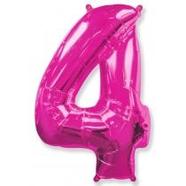 """Шар """"Цифра 4"""" розовая 102 см"""