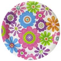Тарелки с цветочками 6шт