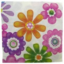 Салфетки с цветочками  20шт