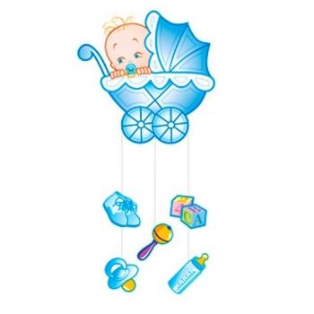 """Подвеска """"Малыш с игрушками"""" 41х90 см"""