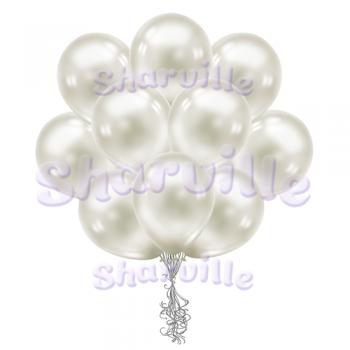 Белые перламутровые шары