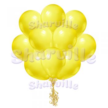 Жёлтые шары пастель