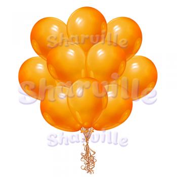 Оранжевые шары пастель