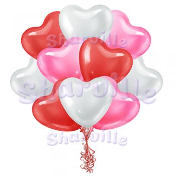 Большие сердца ассорти (40 см)