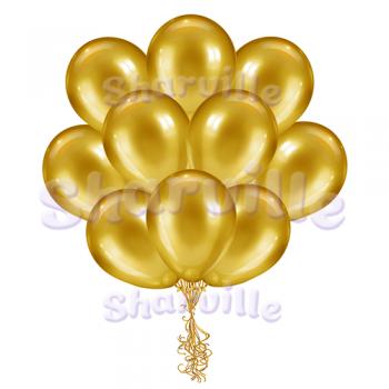 Золотые шары металлик