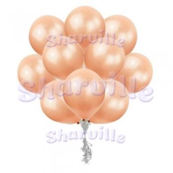 Розовое золото шары металлик