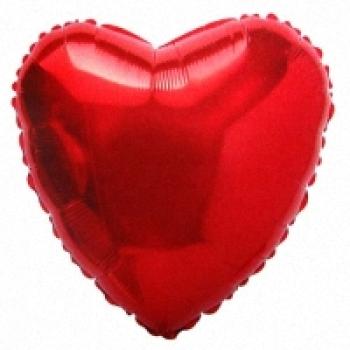"""Шар """"Сердце"""" красный"""