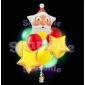 """Светящийся букет шаров """"Дед Мороз"""""""